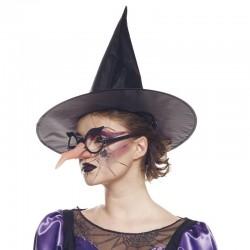 Nez de sorcière et lunettes