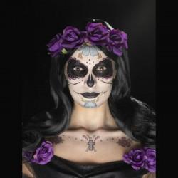 Kit tatouage facial temporaire Jour des morts