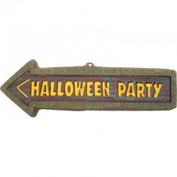 Plaque  halloween party 57 x 19 cm