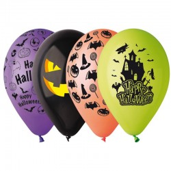 100 ballons imprimés Halloween diam 30