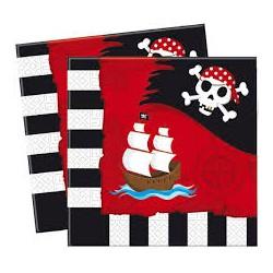 Serviettes Gobelets pirate
