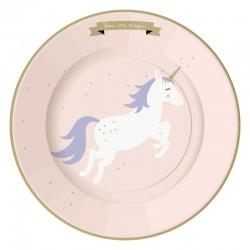 10 assiettes licorne chic