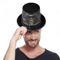 Chapeau haut de forme pvc avec sticker Halloween