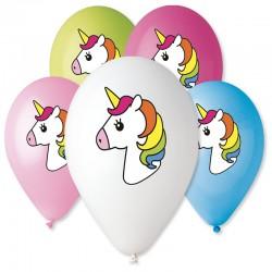 Sachet de 5 ballons licorne...