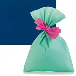 Sachet cadeau bleu mat...