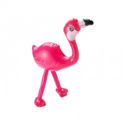 Flamant rose gonflable rose vif 55 cm