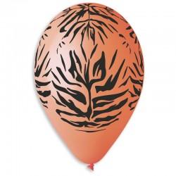 Sachet de 10 ballons motif jungle diam 30cm orange