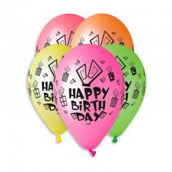 Sachet de 5 ballons happy...
