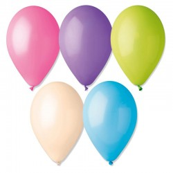 12 ballons pastel turquoise diam 30cm