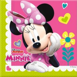20 Serviettes  minnie rose