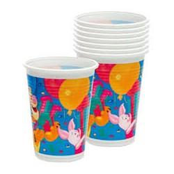 8 gobelets Winnie l'ourson