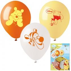 """Sachet de 10 ballons ø 26cm """"Winnie l'ourson"""""""