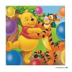 20 serviettes  Winnie l'ourson