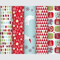 Papier cadeaux fantaisie Noël enfant  5x0.70m