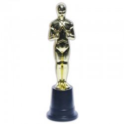Statue trophée or en plastique diamètre 6 cm x hauteur 22.5cm