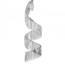 Suspension spirale diam 30 cm hauteur 100 cm argent