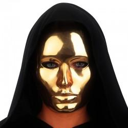 Masque visage or en plastique