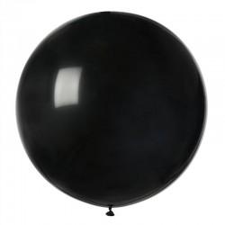 1 ballon géant rond noir...