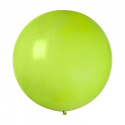 1 ballon géant rond vert...