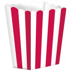 5 Boites Popcorn rayées...