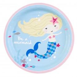 8 Assiettes Be a Mermaid 23cm