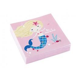 16 Serviettes Be a Mermaid...