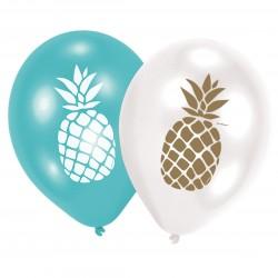 6 Ballons Pineapple Vibes /...