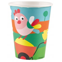 8 Gobelets Farm Fun 250 ml