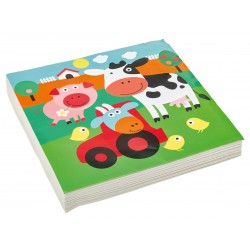 20 Serviettes  33 cm Farm Fun