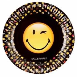 8 Assiettes Smiley...