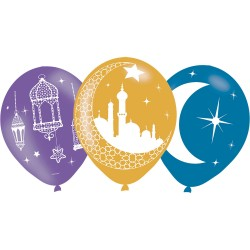 6 Ballons Eid 27,5cm/11