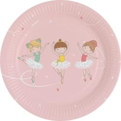 8 Assiettes Little Dancer 18cm