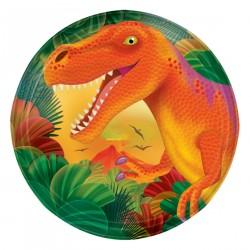 8 Assiettes Dino...