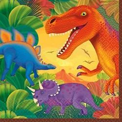 16 Serviettes Dino...