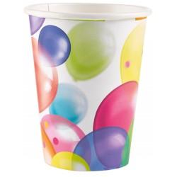 8 Gobelets Balloons 250 ml