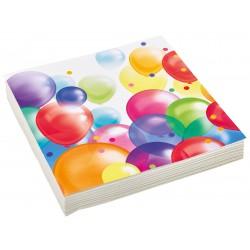 20 Serviettes Balloons 33 cm