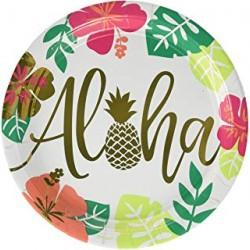 8 Assiettes 26.6 cm - Aloha