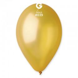 10 ballons metallisés or...