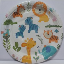 Assiettes animaux jungle...