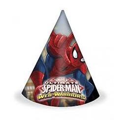 Chapeaux spiderman lot de 6