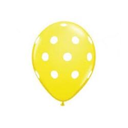 Ballons jaune à pois blanc...