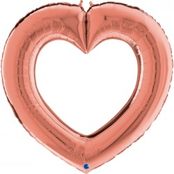 Coeur ouvert  mylar 41″...