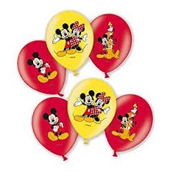 6 ballons mickey  27.5 cm